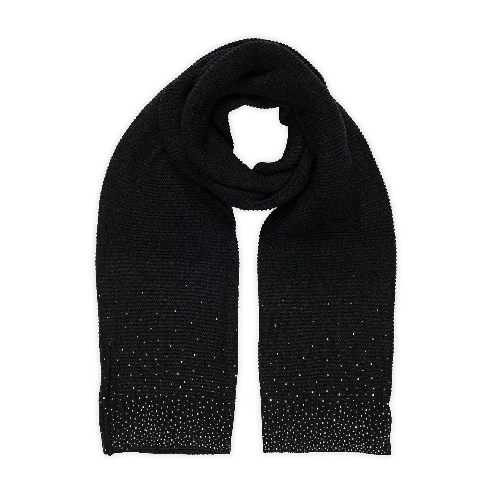 Koan knitted scarf with rhinestones