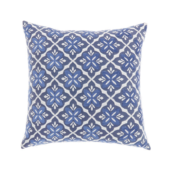 Jacquard cushion with cross pattern
