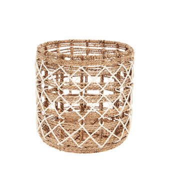 Basket with cord decoration