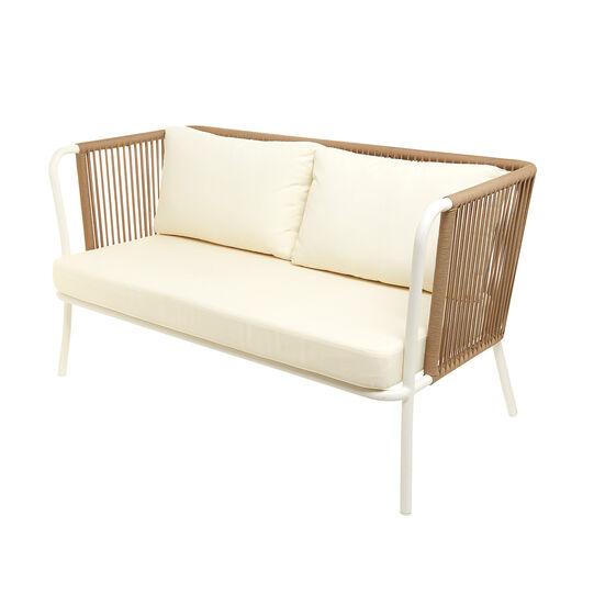 Agadir 2-seater sofa in polyester and aluminium