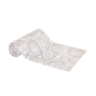 100% cotton throw with cashmere print