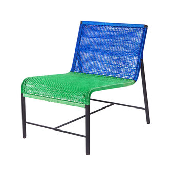 Kanto armchair in recycled plastic from Madagascar
