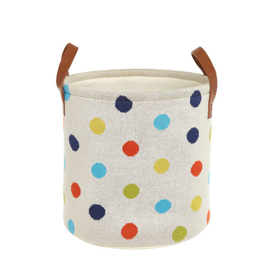 Toy box in polka dot cotton