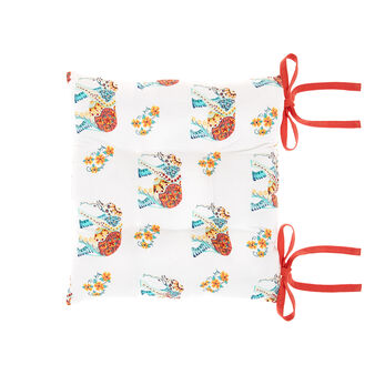 100% cotton seat pad with elephants print