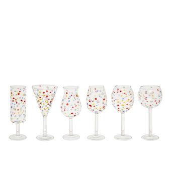Set of 6 borosilicate glass tumblers