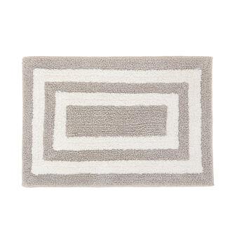 100% cotton bath mat with geometric pattern