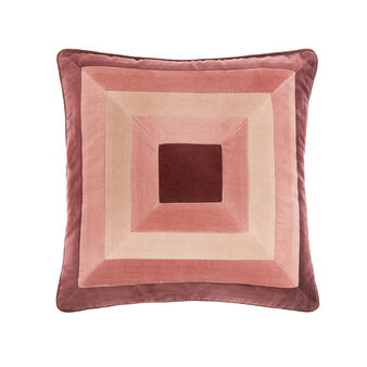 Velvet patchwork cushion 45x45cm