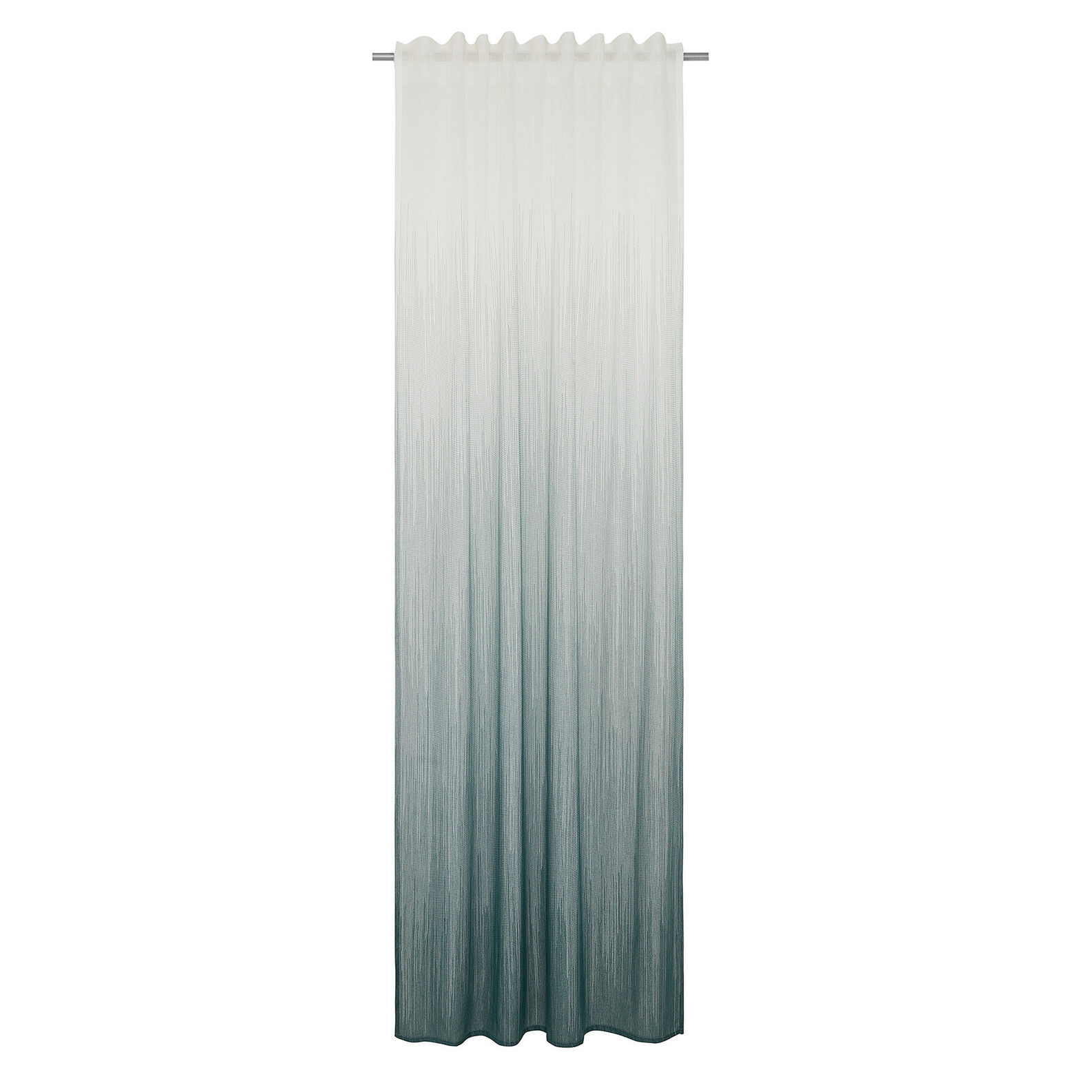 Faded curtain with concealed loops
