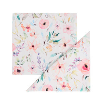 2-pack napkins in cotton twill with roses print