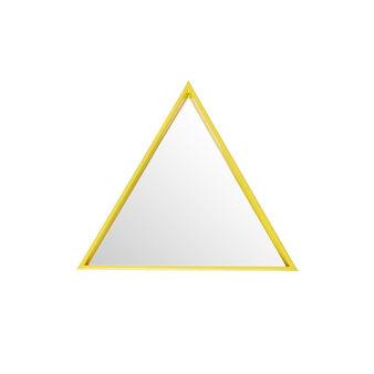 Specchio triangolare laccato lucido