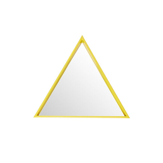 Polished lacquered triangular mirror