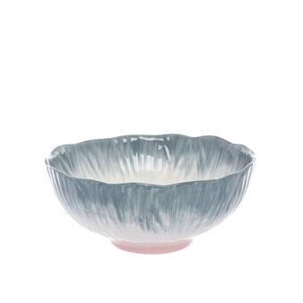 Flower-shaped ceramic salad bowl