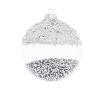 Hand-decorated bauble with nuggets D8cm