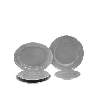 Romantic enamelled porcelain tablewear range