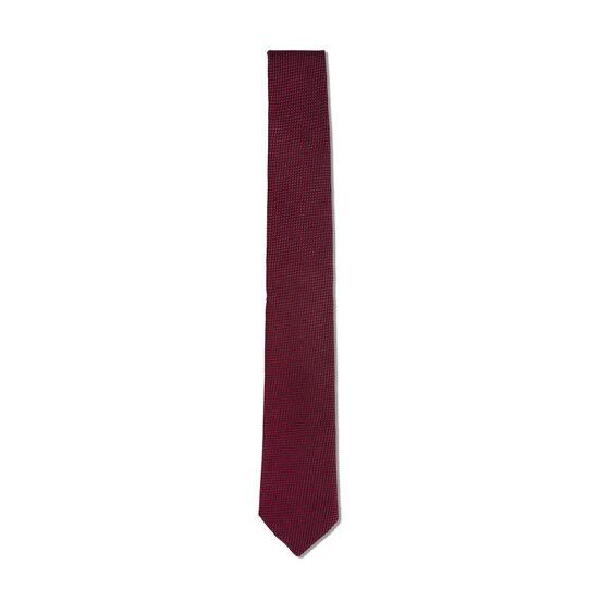 Pure silk tie with geometric pattern