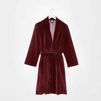 Solid colour velvet dressing gown