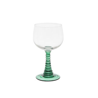 Sprayed glass goblet