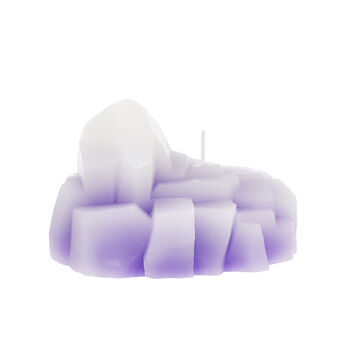 Amethyst druse candle.