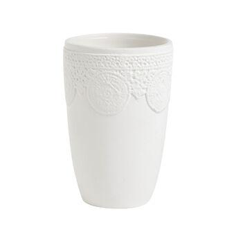 Portaspazzolino ceramica Merletto