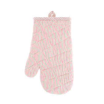 Oven mitt in 100% cotton with striped motif