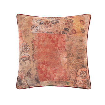 Cotton cushion with floral print 45x45cm