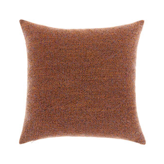 Multi-coloured bouclé weave cushion 45x45cm