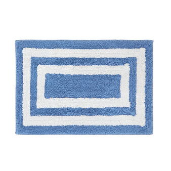 100% cotton bath mat with geometric pattern