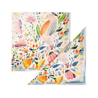 2-pack napkins in 100% cotton with Easter print
