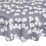 Round cotton tablecloth with flowers print