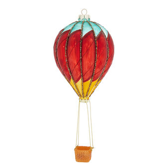 Hand-decorated hot air balloon decoration