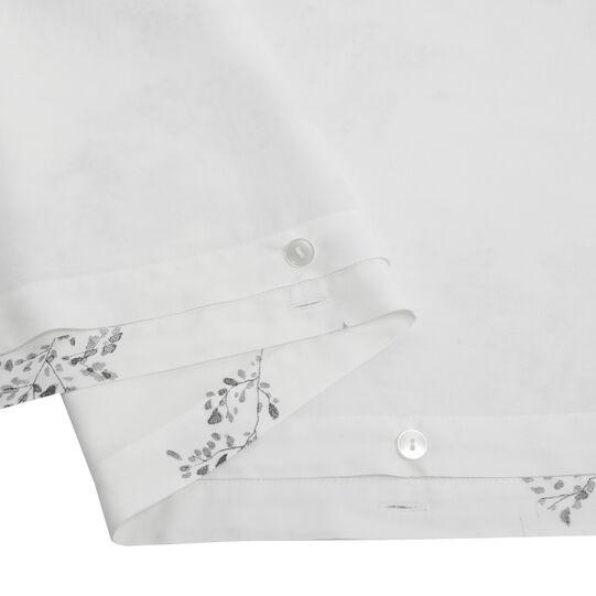Portofino cotton satin duvet cover with ramage motif