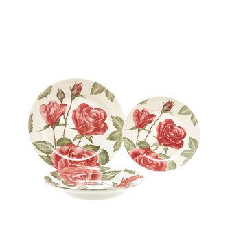 Set 18 piatti ceramica decoro floreale