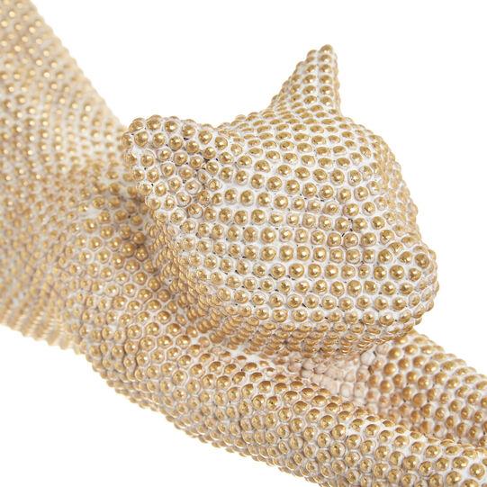 Hand-finished decorative feline