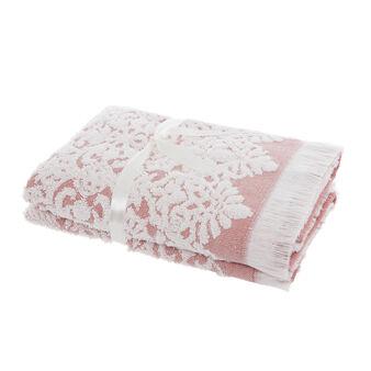 Set 2 asciugamani ricamo jacquard