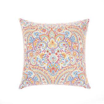 Cotton cushion with mandala print