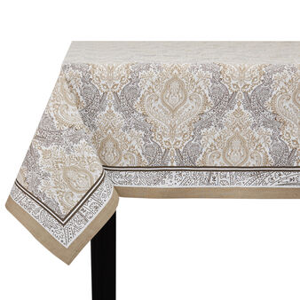 100% cotton tablecloth with cashmere print