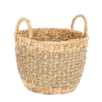 Hand-woven water hyacinth basket