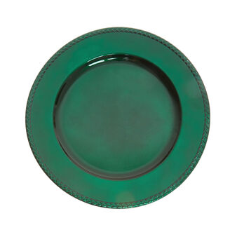 Solid colour plastic charger plate