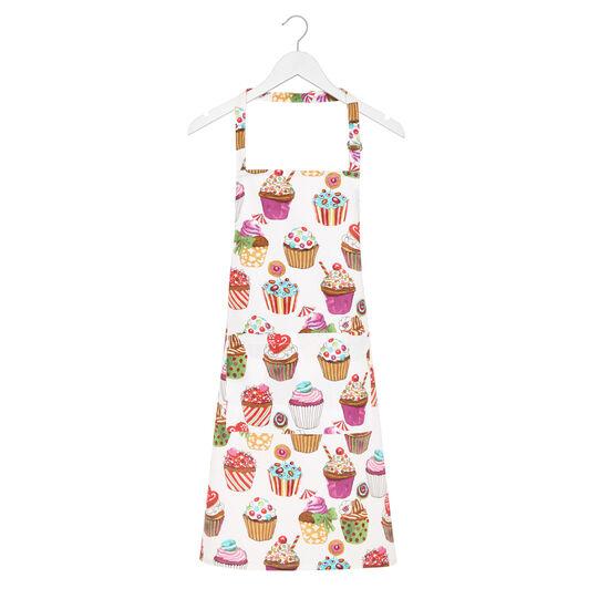 Grembiule da cucina twill di cotone stampa cupcakes by Sandra Jacobs design