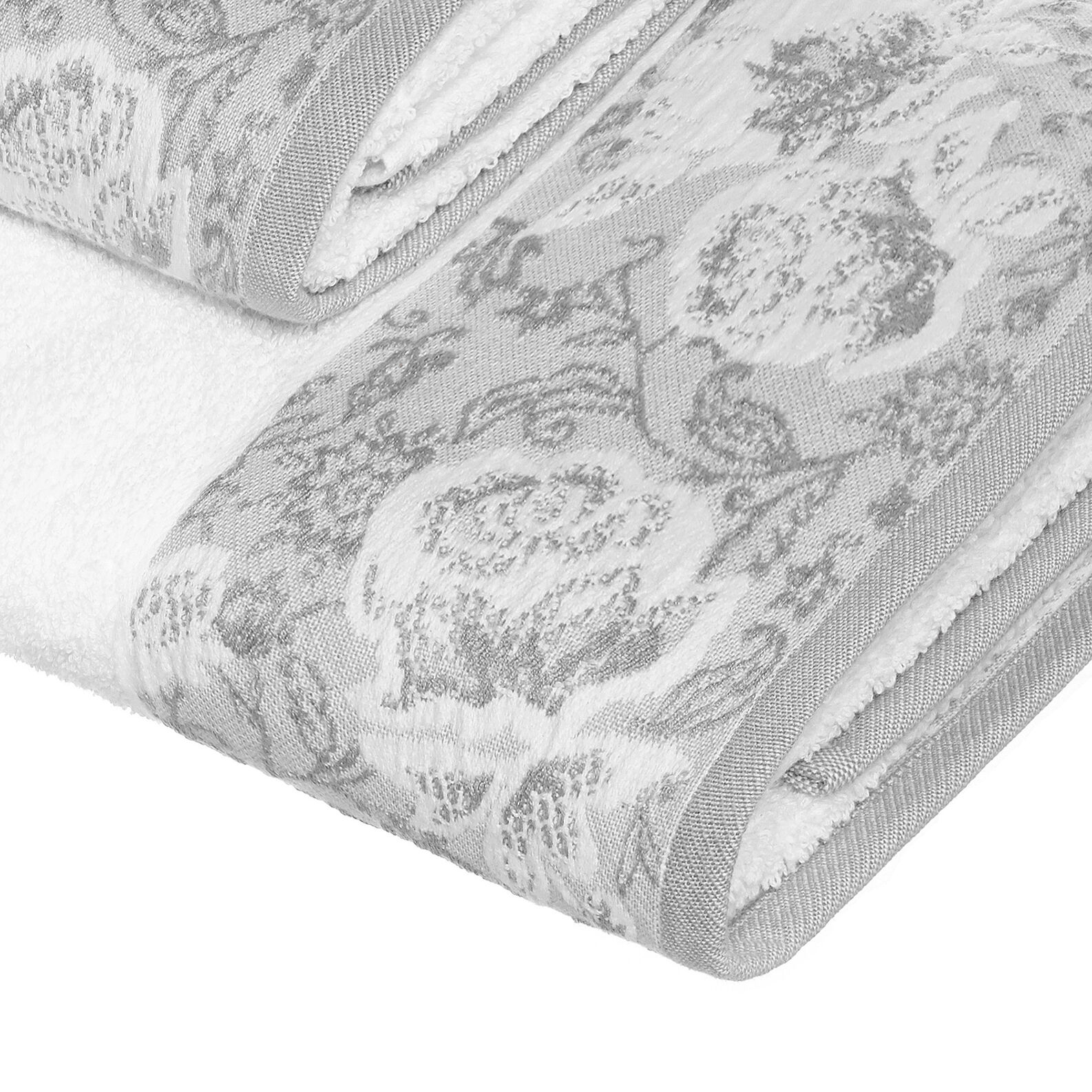 Portofino 100% cotton towel with jacquard edging