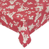 Water-repellent 100% cotton tablecloth with foliage print