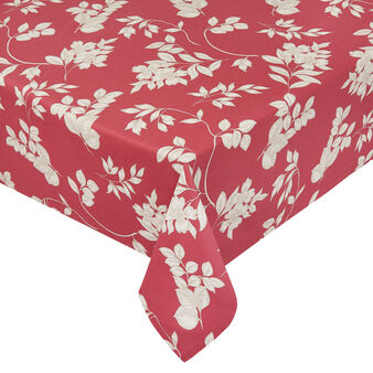 100% cotton tablecloth with foliage print