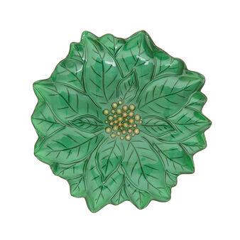 Glass Christmas star shaped serving dish