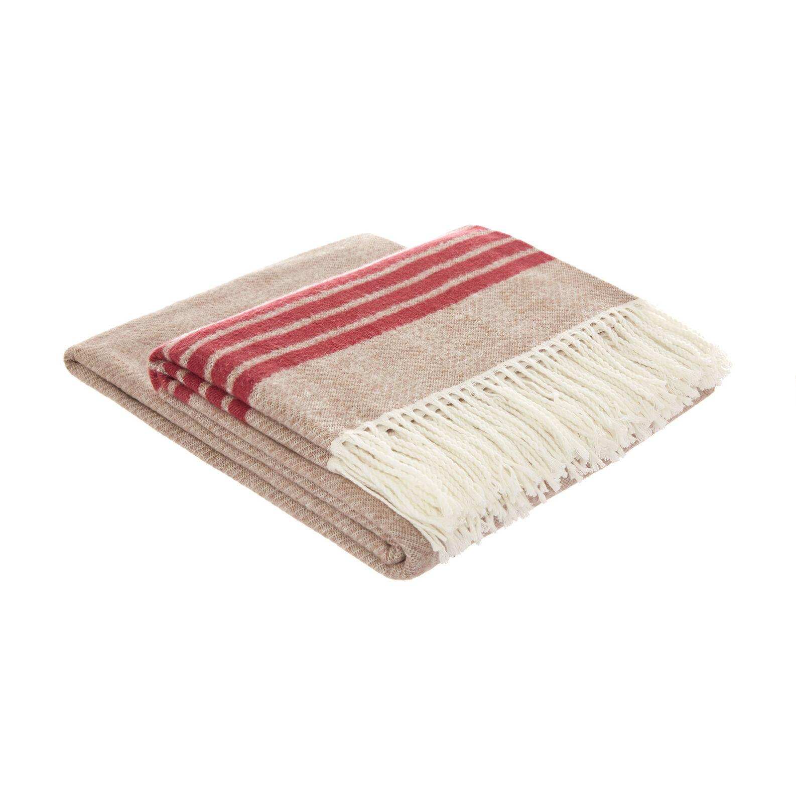 Striped throw in recycled fabric