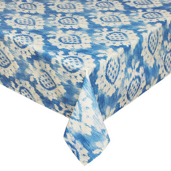 100% cotton tablecloth with ikat print