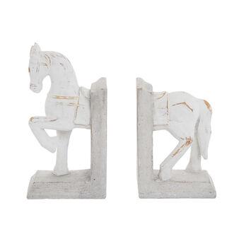 Set 2 fermalibri cavallo rifiniti a mano