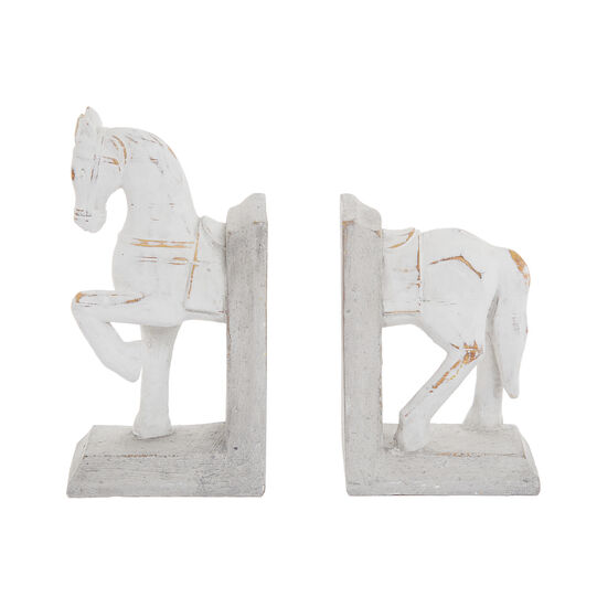 Set of 2 hand-finished horse bookends