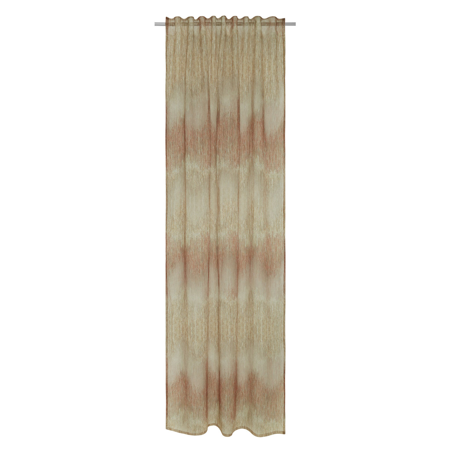 Curtain with hidden loops and devoré design
