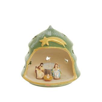 Terracotta nativity scene with tea light Made in Italy