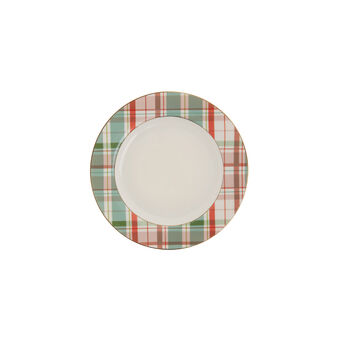 Piatto frutta new bone china tartan